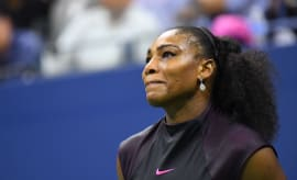 Serena Williams during match.