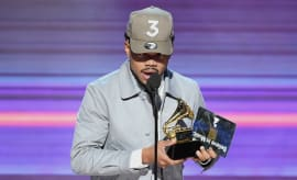 Chance The Rapper at 59th Grammy Awards
