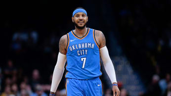 Carmelo Anthony Thunder Nuggets 2017