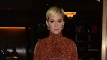 Katy Perry seen out and about wearing rust colour outfit in London, England.