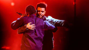 Kendrick Lamar joins The Weeknd on stage