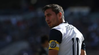 Alejandro Bedoya #11 of Philadelphia Union looks on during the MLS match.