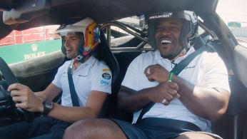 ASAP Ferg Freestyling in F1 Racecar