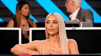 Kim Kardashian onstage during 'One Voice: Somos Live!'