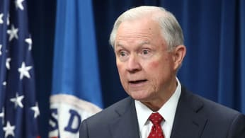 Attorney General Jeff Sessions participates in a news conference