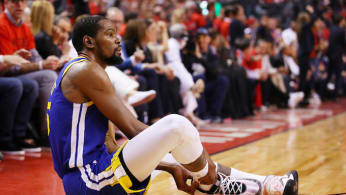 Kevin Durant reinjures calf.