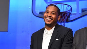 Carmelo Anthony at Hall of Fame ceremony.