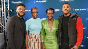 Director Ryan Coogler and actors Danai Gurira, Lupita Nyong'o and Michael B. Jordan