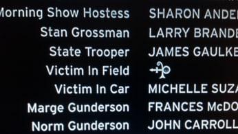 Victim in Field Credits