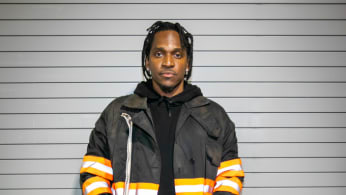 Pusha-T poses at Garden Theater