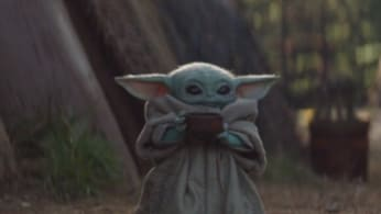 This is a picture of Baby Yoda.