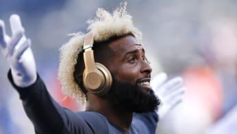 odell Beckham Jr Browns Giants Preseason 2018 Headphones