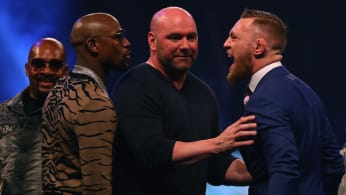Floyd Mayweather, Dana White and Conor McGregor