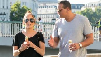 Jennifer Lopez and Alex Rodriguez.