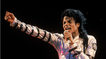 Michael Jackson performs on stage at an unidentified March 1988 concert