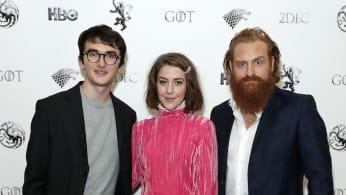 "Isaac Hempstead Wright, Gemma Whelan and Kristofer Hivju attend ""Game Of Thrones: A Celebration."""