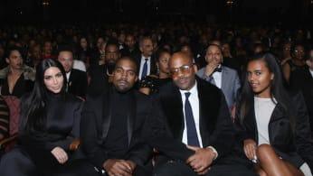 Kim Kardashian, Kanye West, Damon Dash, and Ava Dash at the BET Honors.