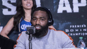 Adrien Broner at a press conference