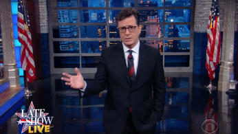 Colbert does a live 'Late Show'