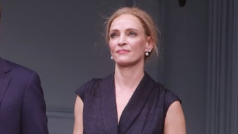 Uma Thurman at the Opening Night curtain call for 'The Parisian Woman.'