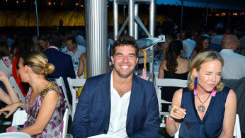 Billy McFarland and Carol Mac attend The 23rd Annual Watermill Center Summer Benefit & Auction