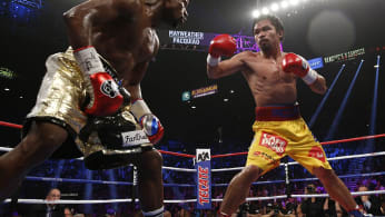 Floyd Mayweather Manny Pacquiao 2015 MGM Grand Getty