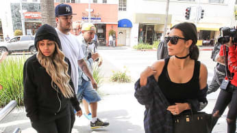 Blac Chyna with Rob and Kim Kardashian