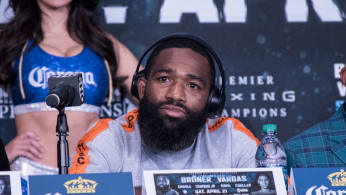 Adrien Broner speaks to the media during the Final press Conference