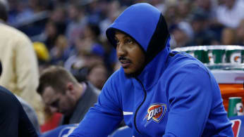 Carmelo Anthony #7 of the Oklahoma City Thunder