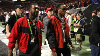 Quavo at the College Football Playoff National Championship Game.