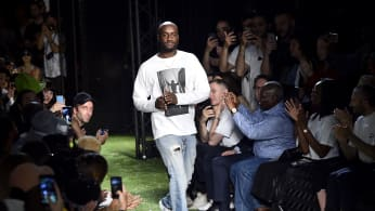 Virgil Abloh at Off-White Spring 2019 runway show