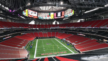 Mercedes Benz Stadium, a.k.a. the new home of the Atlanta Falcons.