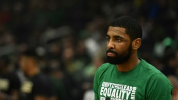 Kyrie Irving #11 of the Boston Celtics