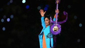 Prince performs during the 'Pepsi Halftime Show' at Super Bowl XLI