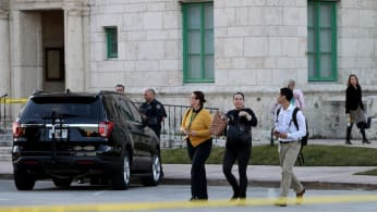 Robbery, hostage-taking and UPS van chase ends in dramatic police shooting in Florida.