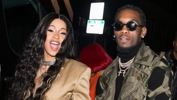 Recording artists Cardi B and Offset