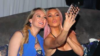 Kim Kardashian and Marina Acton