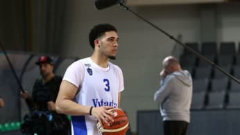 iAngelo Ball with Lithuania Basketball team Vytautas Prienai