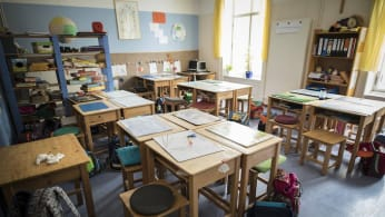 School classroom in Germany