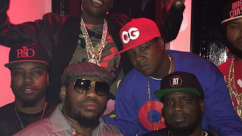 This is a photo of Beanie Sigel and Meek Mill