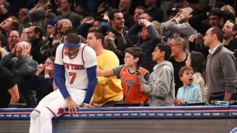 Carmelo Anthony Madison Square Garden 2017 Knicks Suns