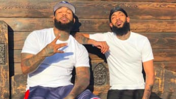 Rappers The Game and Nipsey Hussle