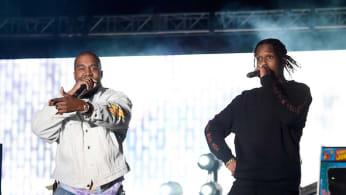 Kanye and ASAP Rocky at 2016 Coachella