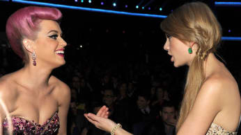 Singers Katy Perry and Taylor Swift.