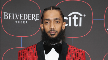 Nipsey Hussle attends the Warner Music Pre-Grammy Party