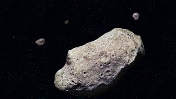 Ida, discovered by the Galileo probe