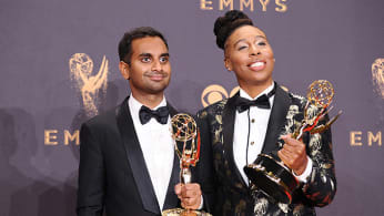 Aziz Ansari and Lena Waithe