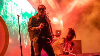 Rapper Future performs at the Bonnaroo Music & Arts Festival.