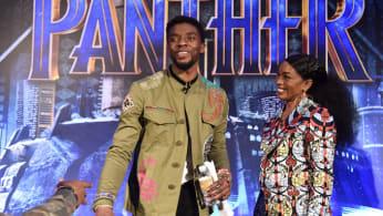 Chadwick Boseman and Angela Bassett 'Black Panther' Cast