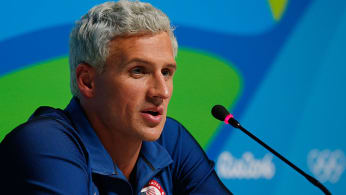 This is a Ryan Lochte at a press conference.